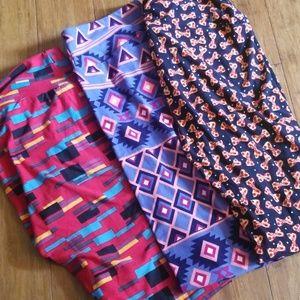 3 pairs of lularoe leggings new w tags